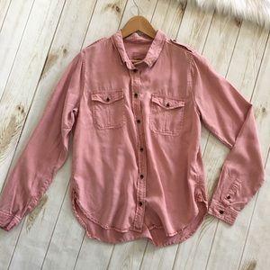 Universal Thread Pink Button Up Soft Top